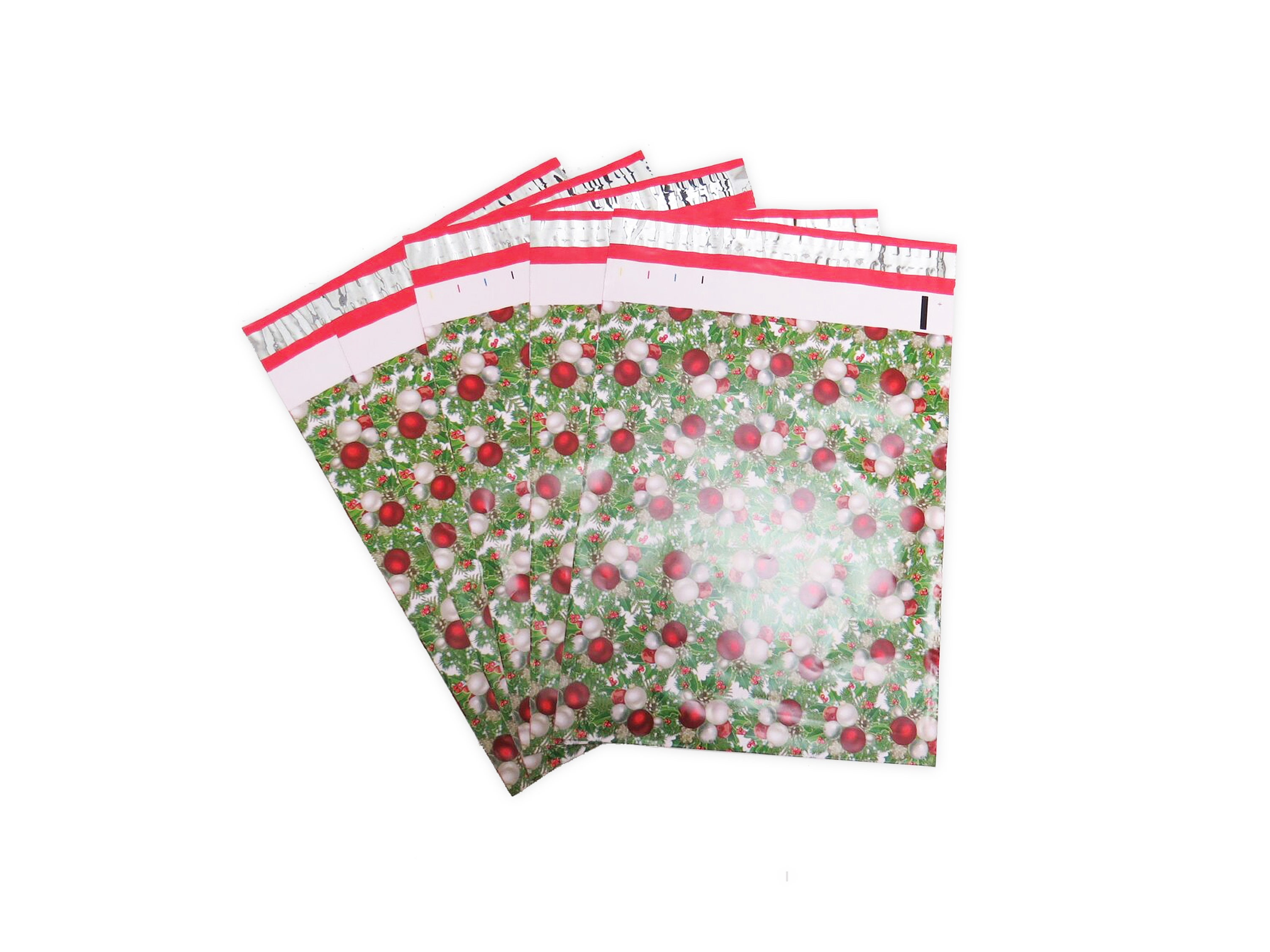 Designer Christmas 100 PCS 10x13 Poly Mailers Lightweight Self