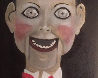 Painting of a scary vent doll 'Billy' Dead Silence