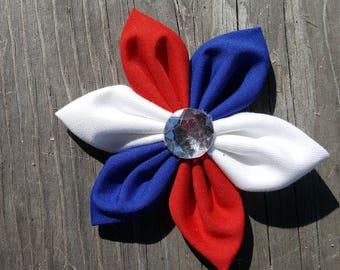 Patriotic Fabric Bow