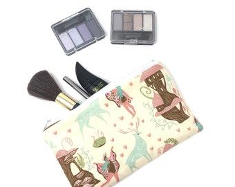 Fairy House Cosmetic Bag, Makeup Brush Holder, Make-up Bag, Makeup Bag, Pencil Case, Makeup Organizer, Makeup Organizers, Zipper Pouch