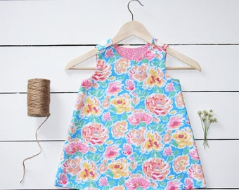 "Floral ""Down by the Bay"" Girls A-Line Dress"