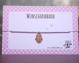 Desire bracelet * Hamsa hand * Rosé gold