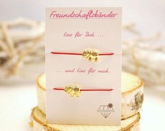 Friendship bracelet set ~ Elefeant ~ gold