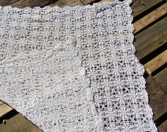 Beautiful crocheted tablecloth