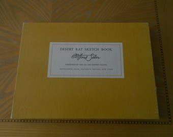 Desert rat sketch book First Edition written & Illustrated Clifford Saber 1959
