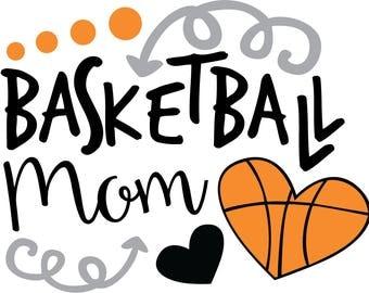 Basketball Mom SVG file for T-shirts, Mugs and More