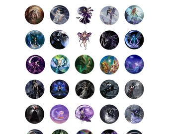 Fairy fairies 1 inch printable circle images bottle cap