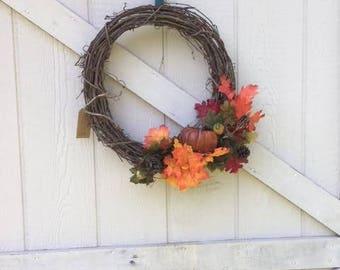 """8"""" Wreath: It's Fall Y'all!"""