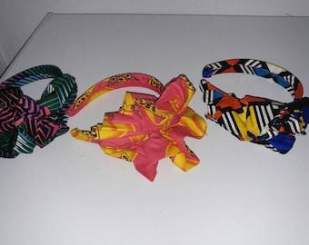 African fabric Barrettes
