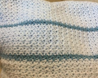 Moss Stitch Baby Blanket