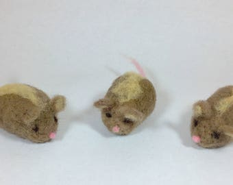Needle Felted Animal, Needle Felted Mouse, Woodland Creatures Baby Shower, Needle Felted Mouse