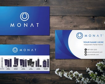 PERSONALIZED Monat Business Card, Custom Monat Business Card, Fast Free Personalization, Custom Monat Hair Care Card MN03