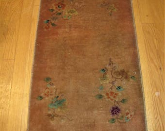 Antique Art DECO Chinese Rug 2x4 Rr2872 (Stickley Era)