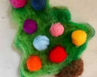 Christmas tree ornament - Wool ornament - Gifts for Mom - Keepsake