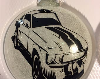 Ford mustang fastback ornament
