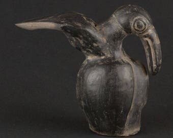 Pre-columbian finial in the form of a toucan