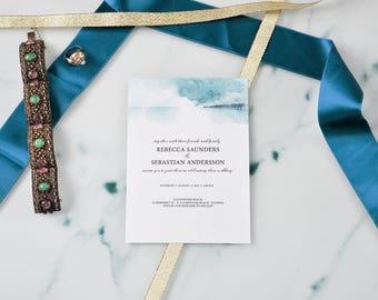 SAMPLE - Beach Wedding Invitations Customized, Invitations online, Printable wedding Ocean Romantic wedding Invitation, romantic Wedding