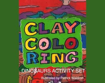 Clay Coloring Dinosaurs Activity Set 1