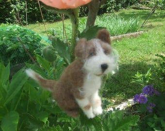 MONTY - Gorgeous Needle Felted Mini Dog!