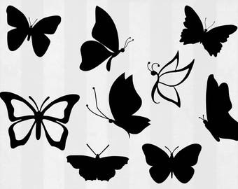 Butterfly SVG Bundle, butterfly clipart, butterfly cut files, svg files for silhouette, files for cricut, svg, dxf, eps, cuttable design