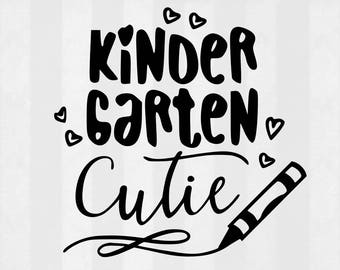 Kindergarten Cutie SVG Bundle, Kinder Cutie clipart, cut files, svg files for silhouette, files for cricut, svg, dxf, eps, cuttable design