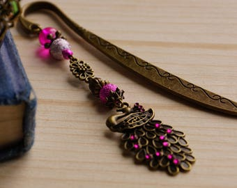 Pink Peacock bookmark