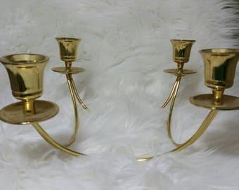 Table Top Candelabra Brass Partylite Quartet Taper Centerpiece