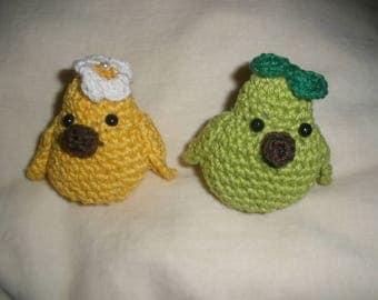 Amigurimi birds couple crochet