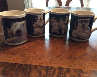 A Set of 4 Coca-Cola Coffee Tea Cocoa Mugs