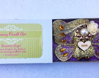 Gold Match Box Guardian Angel!