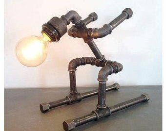 Industrial/steampunk table or desk lamp