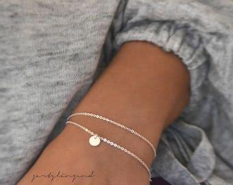 "925 sterling silver Bracelet Tile ""xs"""