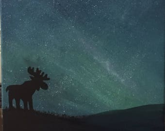 Moose in the night
