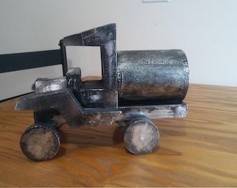 Metallic wood truck