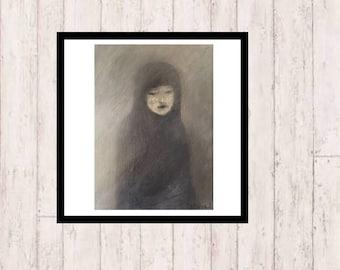 Girl... Art Poster - INSTANT DOWNLOAD