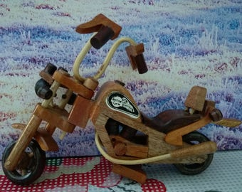 Wooden Motorcycle, vintage wooden motorcycle, hand made motorcycle, vintage  motorcycle, old motorcycle, old toys, 1970 toys