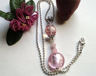 Pendant necklace pink softness - gift idea for woman