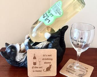 Cat coasters. Cat lover coasters. It's not drinking alone if the cat is home.