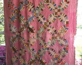 Vintage Quilt 1930 Handstitched