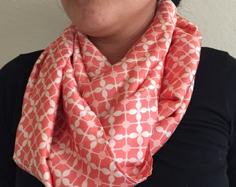 Soft Pink Infinity Scarf