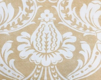 Churchill Straw Damask Print- Eastern Accents Fabric