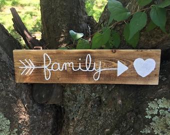 Family Arrow Plaque