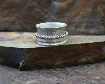 Spinner ring, sterling