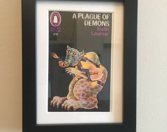 Classic Penguin Science Fiction Book cover print- framed - A Plague Of Demons