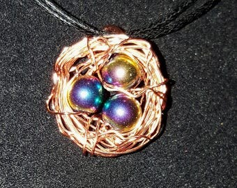 Wire Wrapped Bird's Nest Pendant