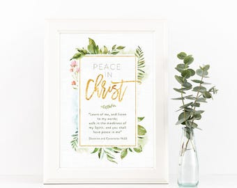 2018 LDS Youth Theme - Peace In Christ D&C 19:23 - Instant Download - 8x10