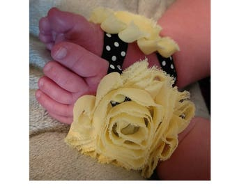 Yellow Baby Barefoot Sandals