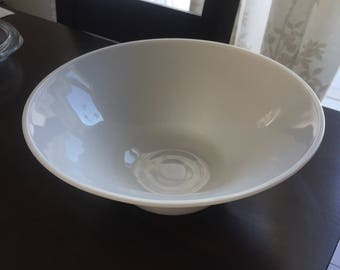 White milk glass fruit bowl