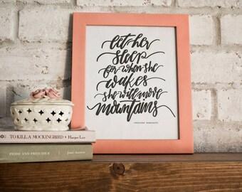 Let Her Sleep // Napoleon Bonaparte // Hand-lettered Digital Print // Printable
