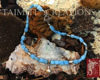 Very Fine Aquamarine and Freshwater Pearl Necklace